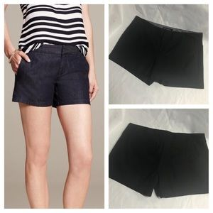 Banana Republic Hampton fit black shorts. Size 8P